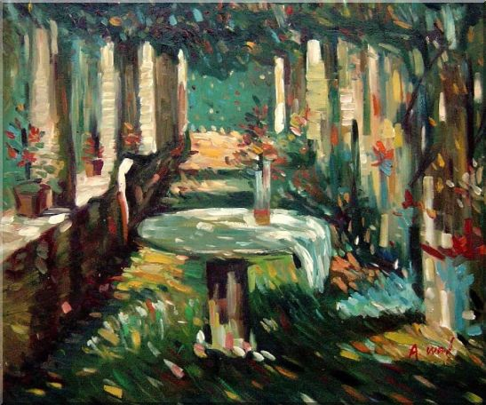 Secret Rendezvous Oil Painting Garden Impressionism 20 x 24 Inches