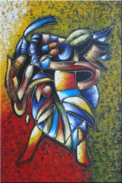 Conch Blower, Picasso Reproduction Oil Painting Portraits Modern Cubism 36 x 24 Inches