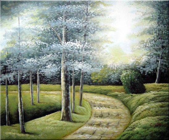 Woodland Walk Oil Painting Landscape Tree Naturalism 20 x 24 Inches