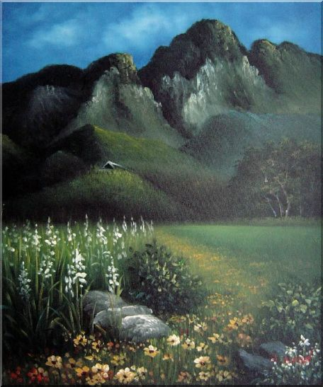 Spring Song Oil Painting Landscape Mountain Naturalism 24 x 20 Inches