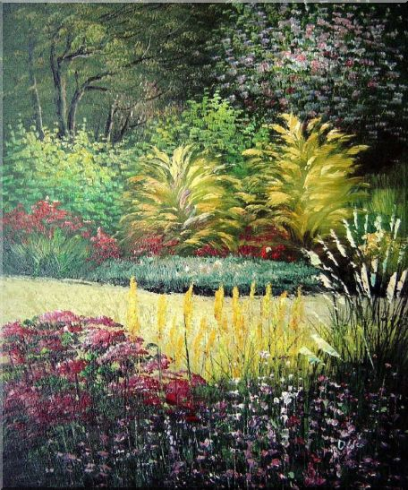 Midsummer Day's Garden Oil Painting Naturalism 24 x 20 Inches