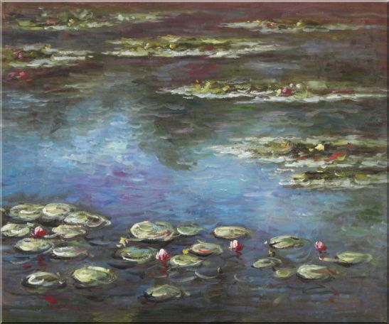 Summer Waterlily, Claude Monet Replica Oil Painting Flower Impressionism 20 x 24 Inches