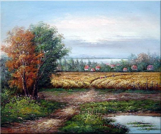 The Harvest Oil Painting Landscape Naturalism 20 x 24 Inches