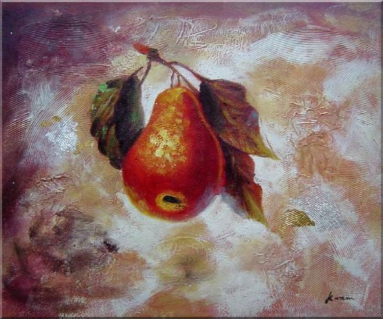 Pear Oil painting Fruit Decorative 20 x 24 Inches