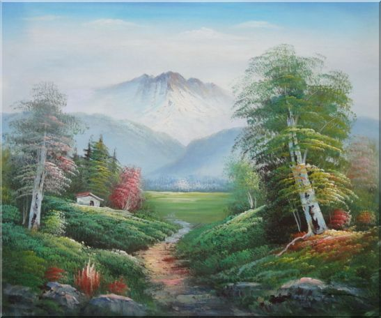 To the Mountain Oil Painting Landscape Naturalism 20 x 24 Inches