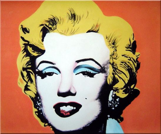 Marilyn Monroe Oil Painting Portraits Celebrity Woman America Actor Pop Art 20 x 24 Inches