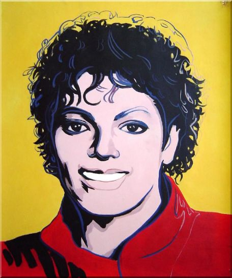 Michael Jackson Oil Painting Portraits Celebrity America Musician Pop Art 24 x 20 Inches