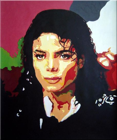 King of Pop Michael Jackson Oil Painting Portraits Celebrity America Musician Art 24 x 20 Inches