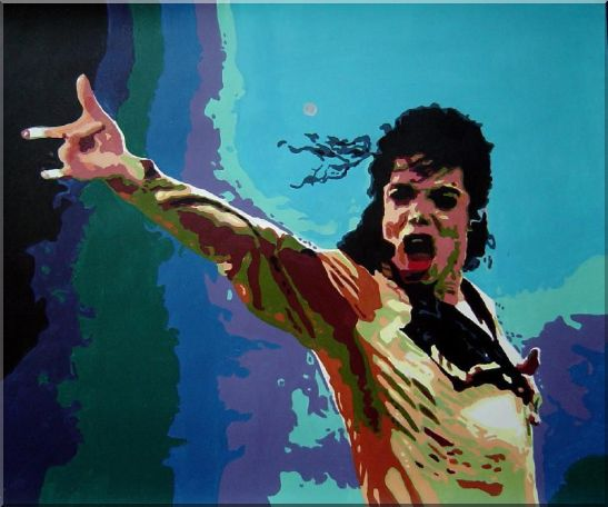 American Pop Superstar Michael Jackson Oil Painting Portraits Celebrity Musician Art 20 x 24 Inches
