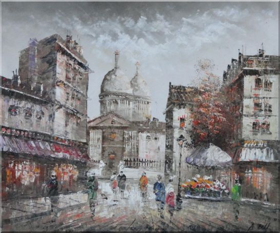 Paris In Love Oil Painting Cityscape France Impressionism 20 x 24 Inches