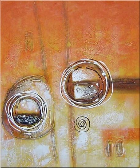 Circles in Yellow and Brown - 3 Canvas Set 3-canvas-set,nonobjective decorative  24 x 60 inches