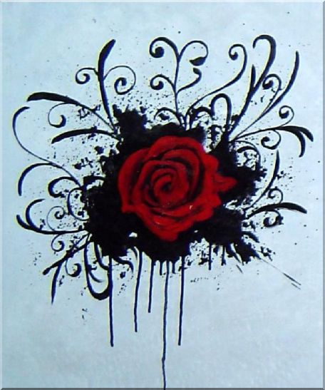 Red Rose - 3 Canvas Set 3-canvas-set,flower, rose decorative  24 x 60 inches