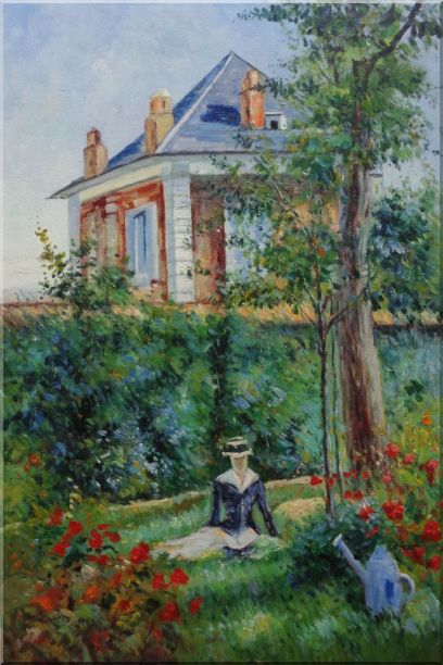 Girl in the Garden at Bellevue, Edouard Manet Oil Painting France Impressionism 36 x 24 Inches