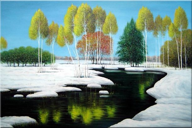 Nature Beauty of Jiuzhai Valley - 2 Canvas Set 2-canvas-set,landscape,river naturalism  24 x 72 inches