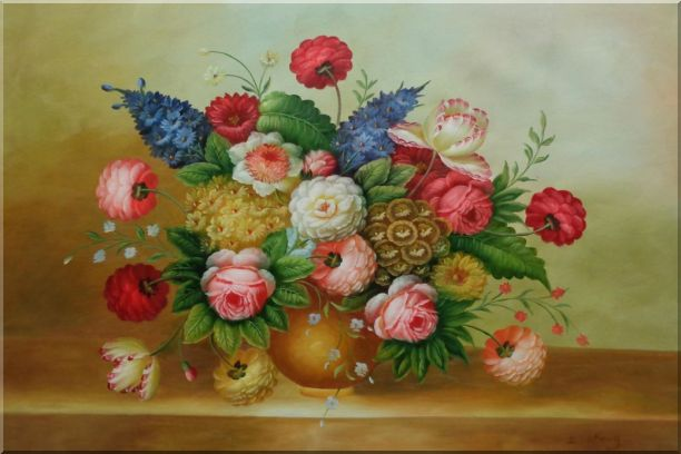 Still Life of Colorful Flowers Oil Painting Bouquet Classic 24 x 36 Inches