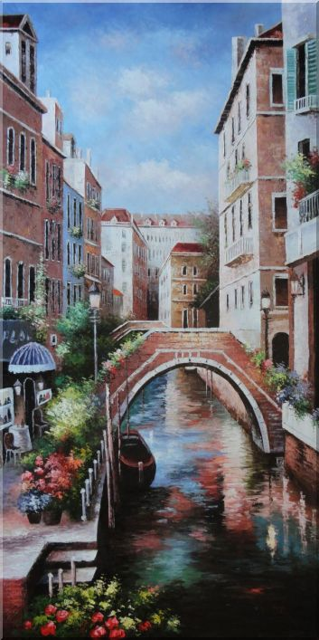 Memories of Venice in Italy Oil Painting Naturalism 72 x 36 Inches