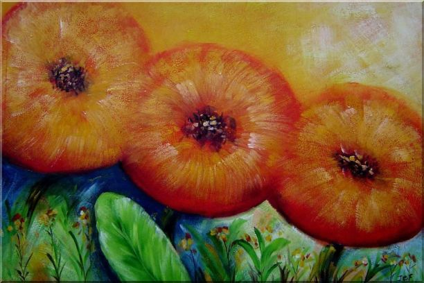 Modern Yellow Sunflower Oil Painting Decorative 24 x 36 Inches