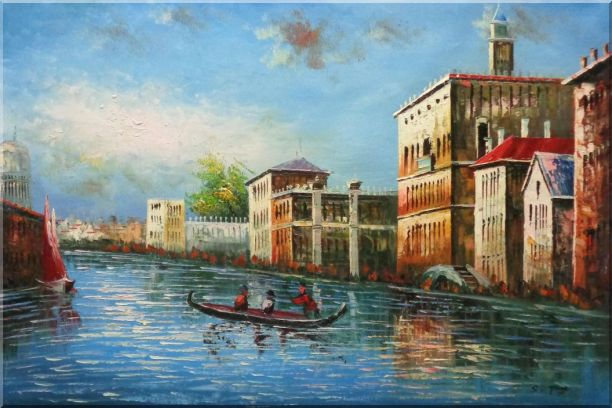 Love Story of Venice Oil Painting Italy Naturalism 24 x 36 Inches