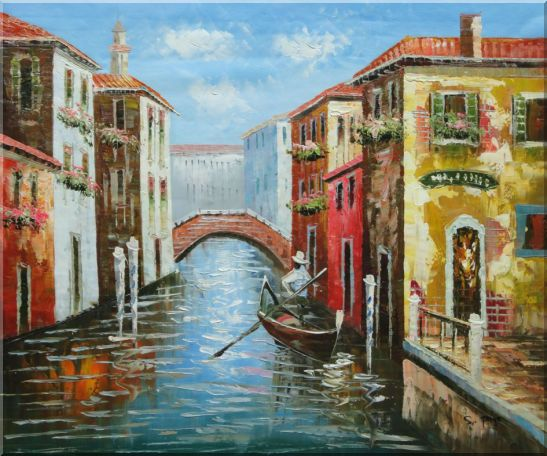 The Afternoon of Venice Oil Painting Italy Naturalism 20 x 24 Inches
