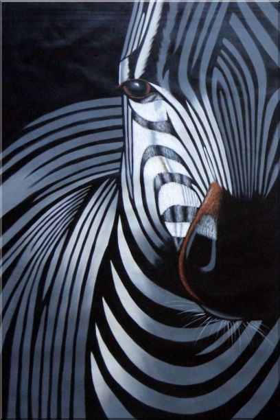 Black White Zebra Heads - 2 Canvas Set 2-canvas-set,animal,zebra,black-white decorative  36 x 48 inches