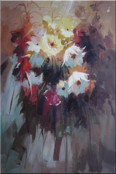 Flowers in Impression - 2 Canvas Set 2-canvas-set,still-life,flower impressionism  36 x 48 inches