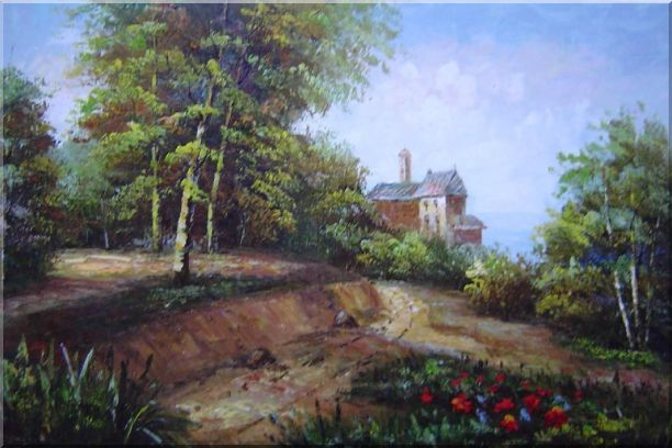 Highland Garden Behind the House Oil Painting Landscape Classic 24 x 36 Inches