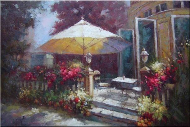 Garden Retreat Oil Painting Naturalism 24 x 36 Inches