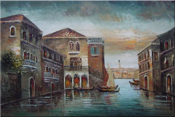 Romantic Venice in my Memory Oil Painting Italy Naturalism 24 x 36 Inches