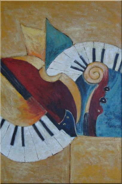 Musical Instruments - 2 Canvas Set 2-canvas-set,still-life modern  36 x 48 inches