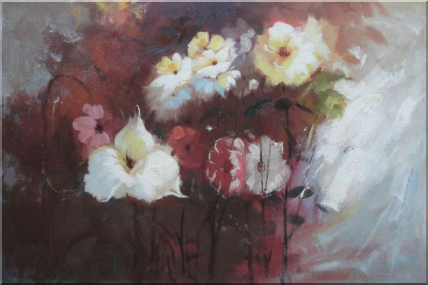 Flowers in Genial Sunlight Oil Painting Impressionism 24 x 36 Inches