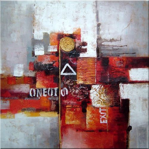 Mixed Light Colors Oil Painting Nonobjective Modern 32 x 32 Inches