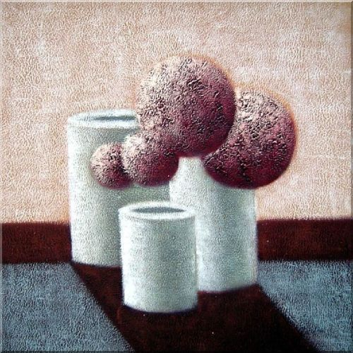 Harmony of Balls and Cylinders Oil Painting Still Life Decorative 30 x 30 Inches