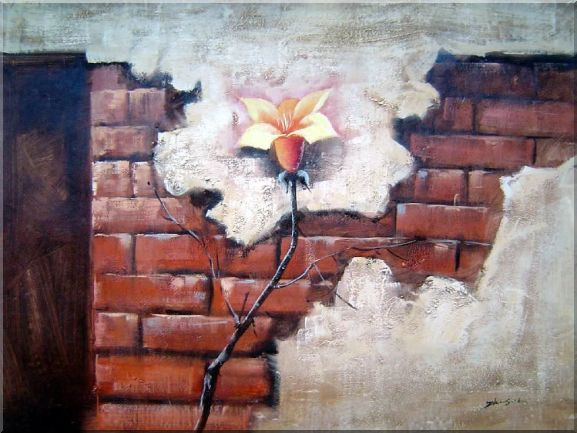 Large Modern Flower with Brown Wall Oil Painting Still Life Rose Decorative 30 x 40 Inches