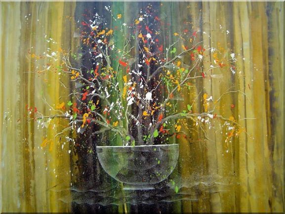 Still Life Plant in Modern Setting Oil Painting Decorative 30 x 40 Inches