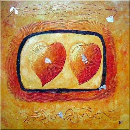 Love Song Oil Painting Nonobjective Modern 30 x 30 Inches