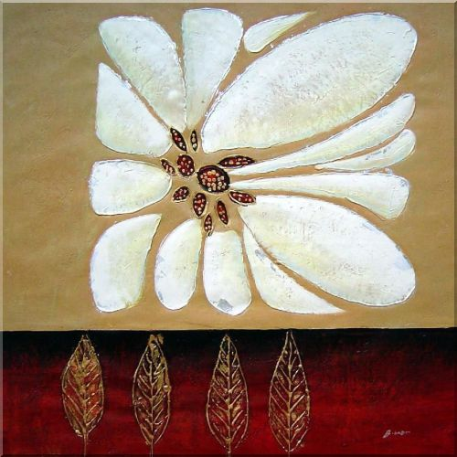 Pair of White Flowers - 2 Canvas Set 2-canvas-set,flower, daisy modern  28 x 56 inches