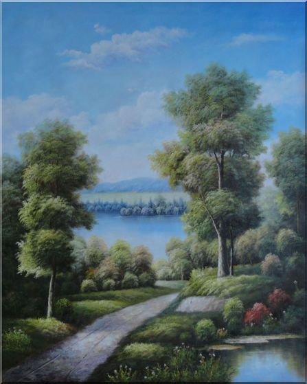 A Path Through Quiet Ponds Oil Painting Landscape Tree Classic 60 x 48 Inches