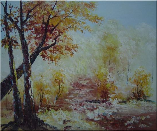 Yellow Trees Under Strong Sunlight Oil Painting Landscape Impressionism 20 x 24 Inches
