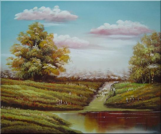 Autumn's Majesty Oil Painting Landscape Naturalism 20 x 24 Inches