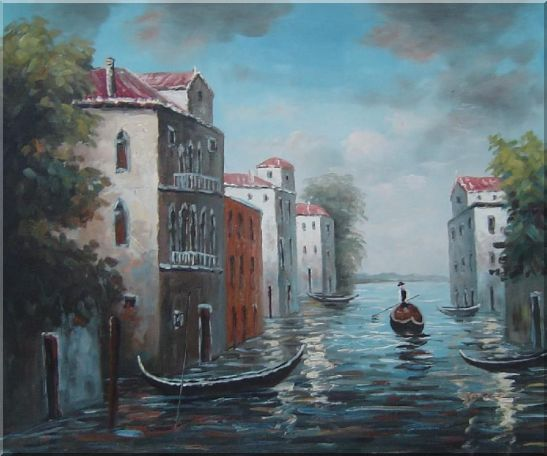Venice in Impression Oil Painting Italy Naturalism 20 x 24 Inches