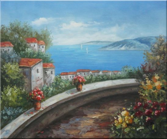 Mediterranean Dream Walk Oil Painting Naturalism 20 x 24 Inches