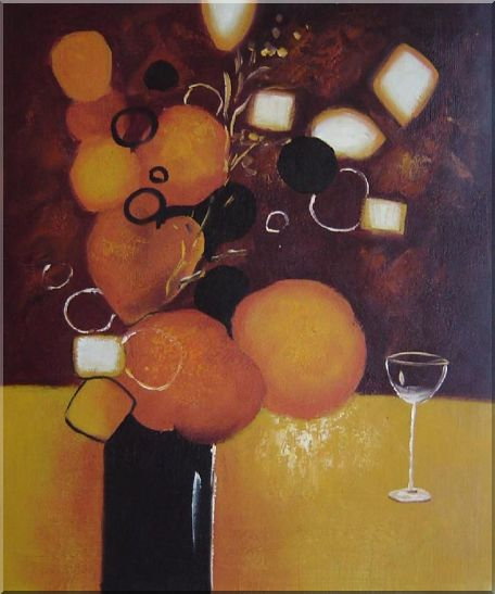 Still Life Pears with Glass Oil Painting Fruit Decorative 24 x 20 Inches