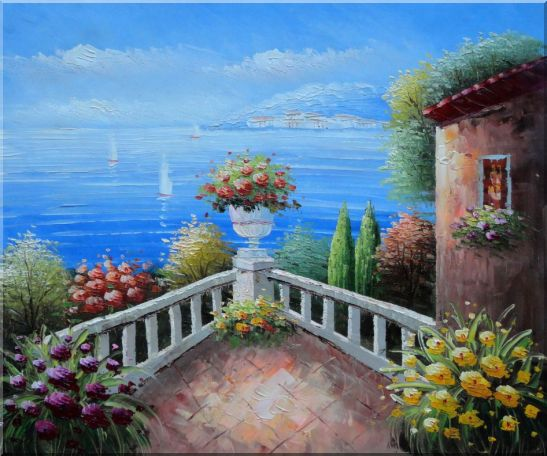 Mediterranean Flower Corner Oil Painting Naturalism 20 x 24 Inches