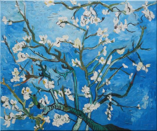 Branches of Almond Tree in Blossom, Van Gogh Reproduction Oil Painting Flower Post Impressionism 20 x 24 Inches