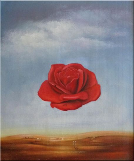 The Meditative Rose, Dali Reproduction Oil Painting Flower Modern Surrealist 24 x 20 Inches