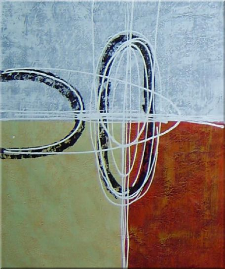 Circles and Rectangles - 3 Canvas Set 3-canvas-set,nonobjective decorative  24 x 60 inches