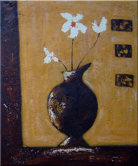 Flower in Vase Modern Painting - 2 Canvas Set 2-canvas-set,flower decorative  24 x 40 inches