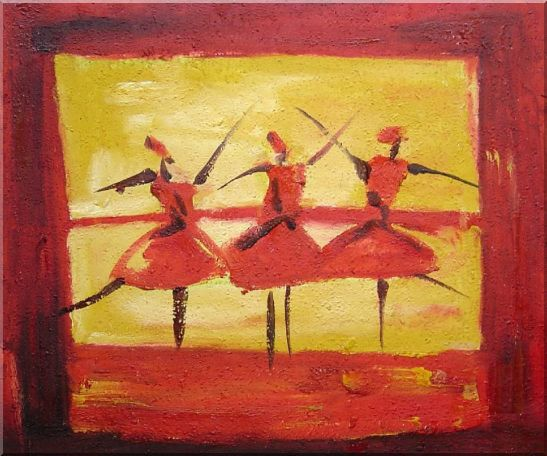 Three Female Dancers Oil Painting Portraits Woman Modern 20 x 24 Inches