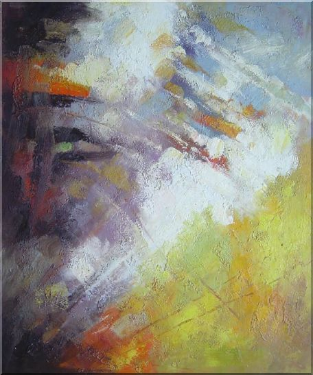 Turbulence Oil Painting Nonobjective Impressionism 24 x 20 Inches