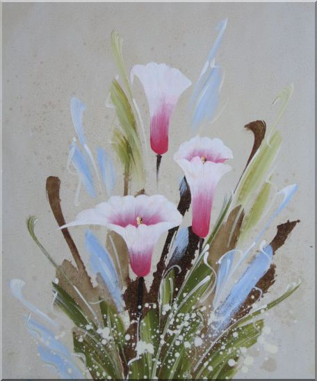 Joyful Pink Calla Lily Oil Painting Flower Decorative 24 x 20 Inches